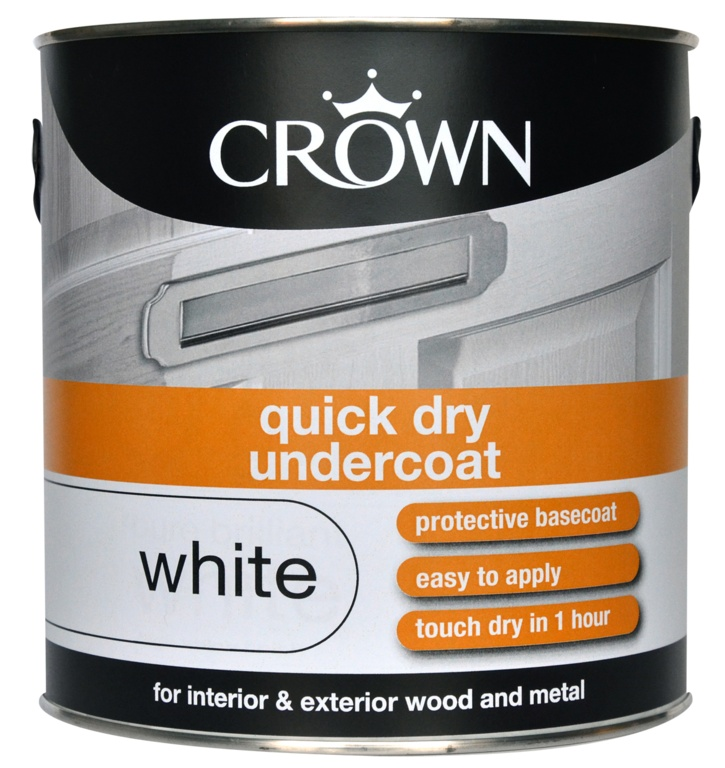 Crown Quick Dry Undercoat 2.5L - White