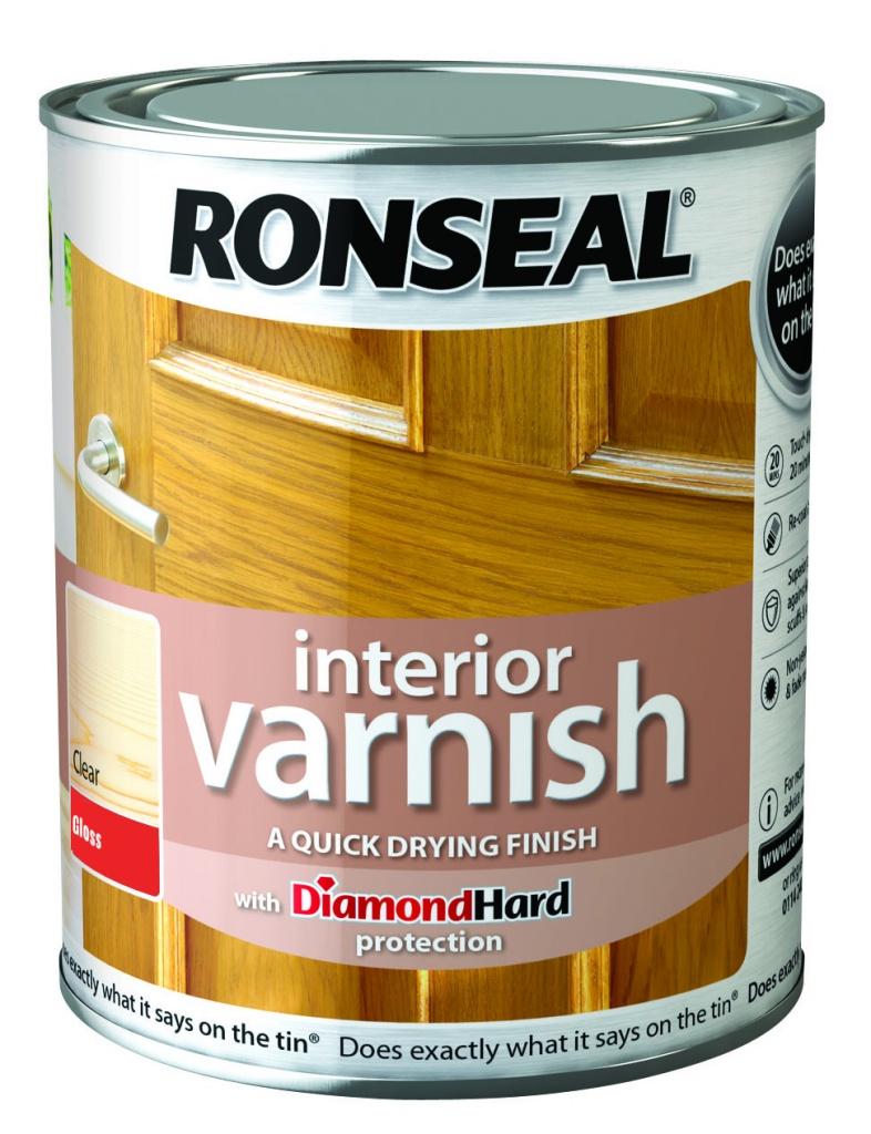 Ronseal Interior Varnish Gloss 750ml - Clear