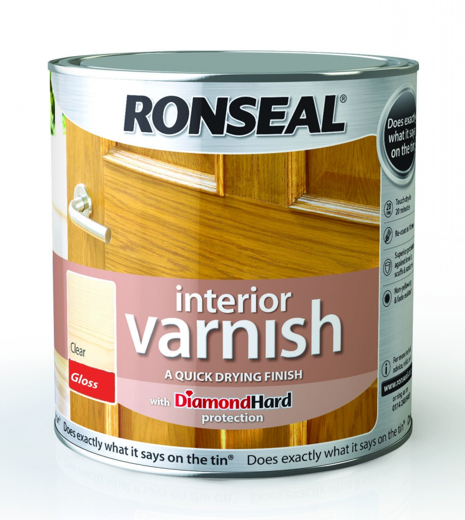 Ronseal Interior Varnish Gloss 2.5L - Clear