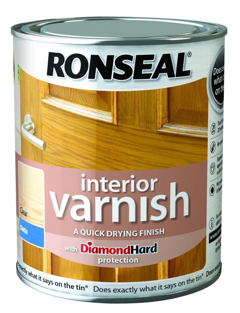 Ronseal Interior Varnish Satin 750ml - Clear