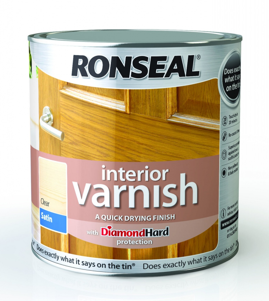 Ronseal Interior Varnish Satin 2.5L - Clear