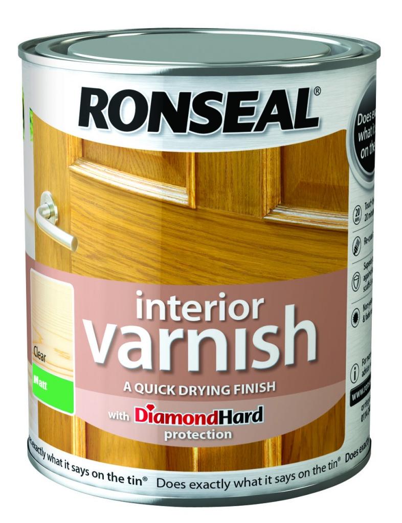 Ronseal Interior Varnish Matt 750ml - Clear