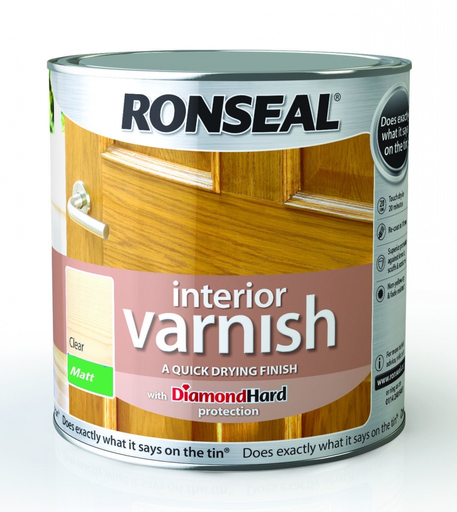 Ronseal Interior Varnish Matt 2.5L - Clear