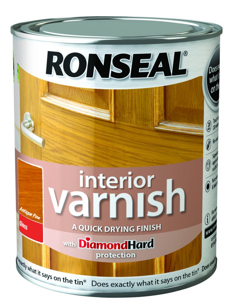 Ronseal Interior Varnish Gloss 750ml - Antique Pine