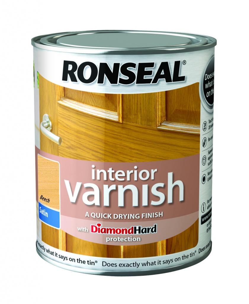 Ronseal Interior Varnish Satin 250ml - Beech