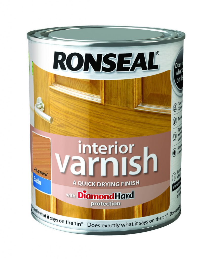 Ronseal Interior Varnish Satin 250ml - Pearwood