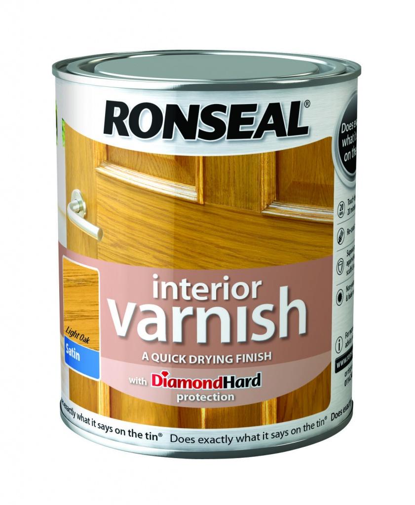 Ronseal Interior Varnish Satin 750ml - Light Oak