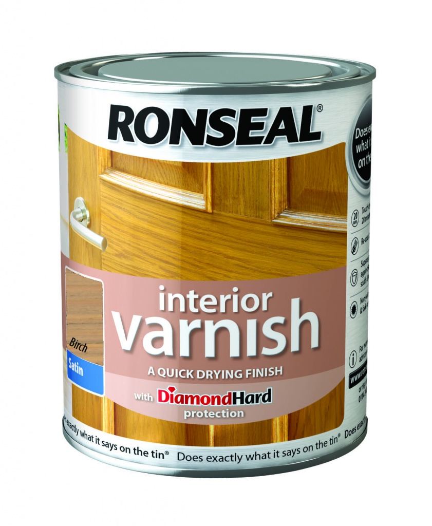 Ronseal Interior Varnish Satin 750ml - Birch