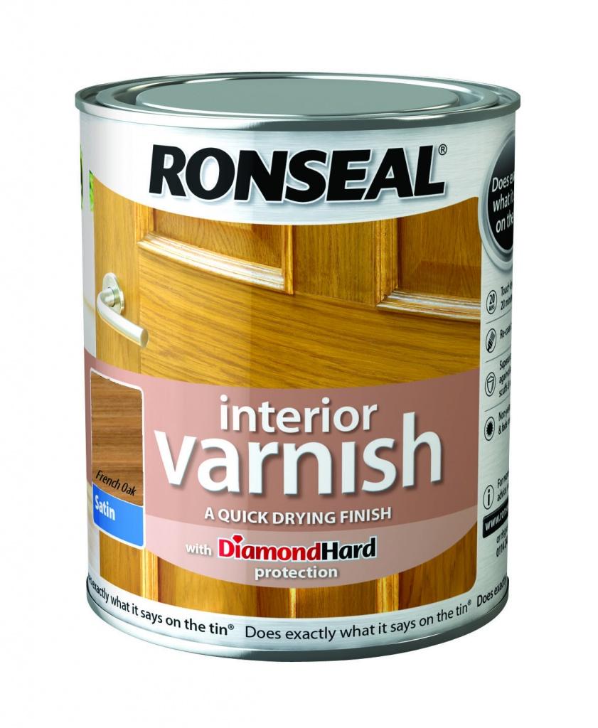 Ronseal Interior Varnish Satin 750ml - French Oak