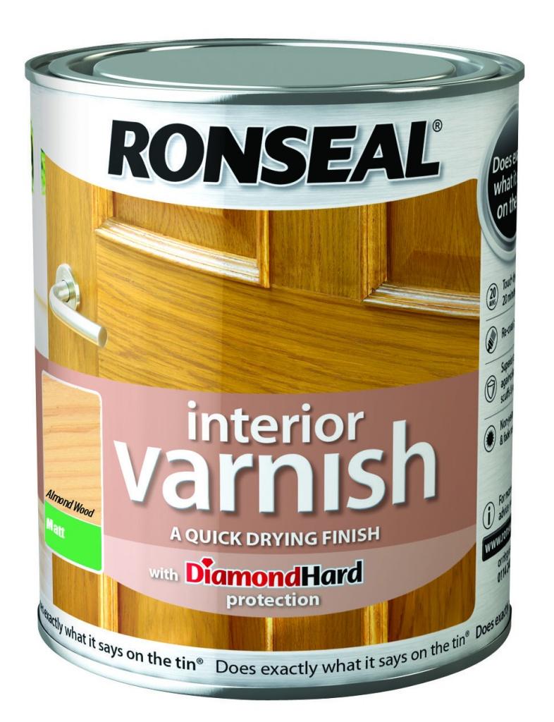 Ronseal Interior Varnish Matt 250ml - Almond Wood