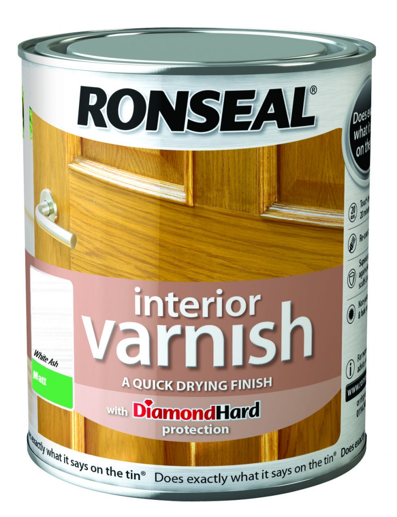 Ronseal Interior Varnish Matt 750ml - White Ash