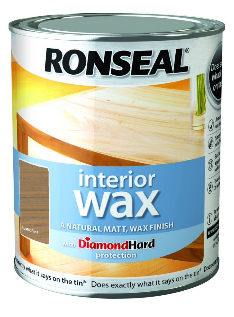 Ronseal Interior Wax Matt 750ml - Rustic Pine