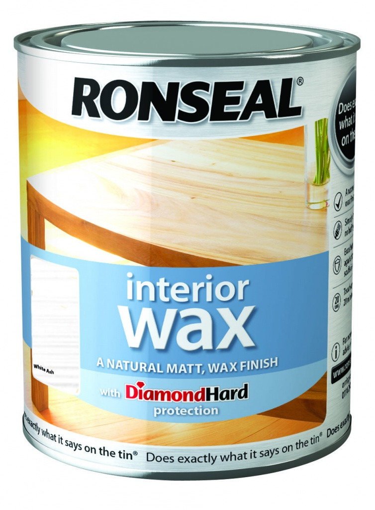 Ronseal Interior Wax Matt 750ml - White Ash