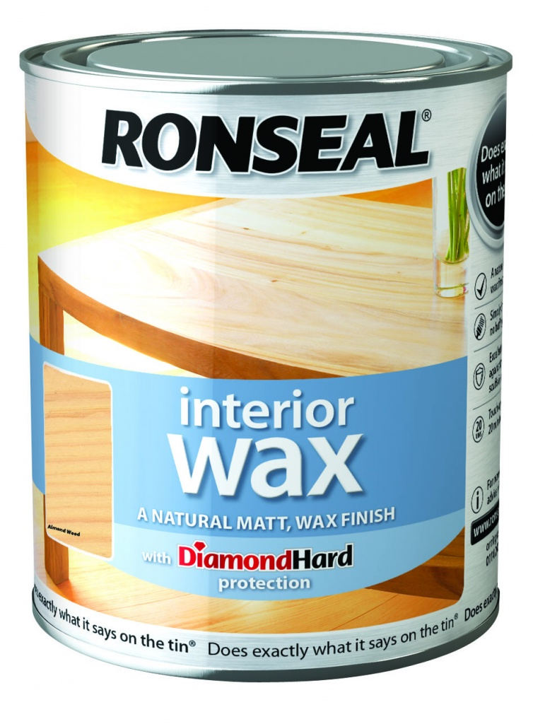 Ronseal Interior Wax Matt 750ml - Almond Wood