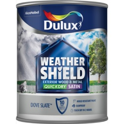 Dulux Weathershield Quick Dry Satin 750ml Dove Slate