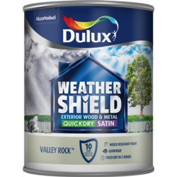 Dulux Weathershield Quick Dry Satin 750ml Valley Rock