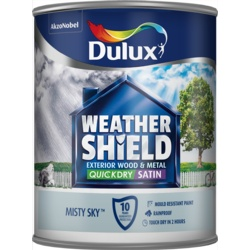 Dulux Weathershield Quick Dry Satin 750ml Misty Sky