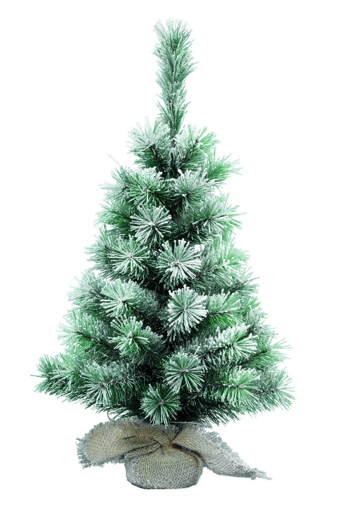 Kaemingk Snowy Vancouver Tree Green/White - 60cm