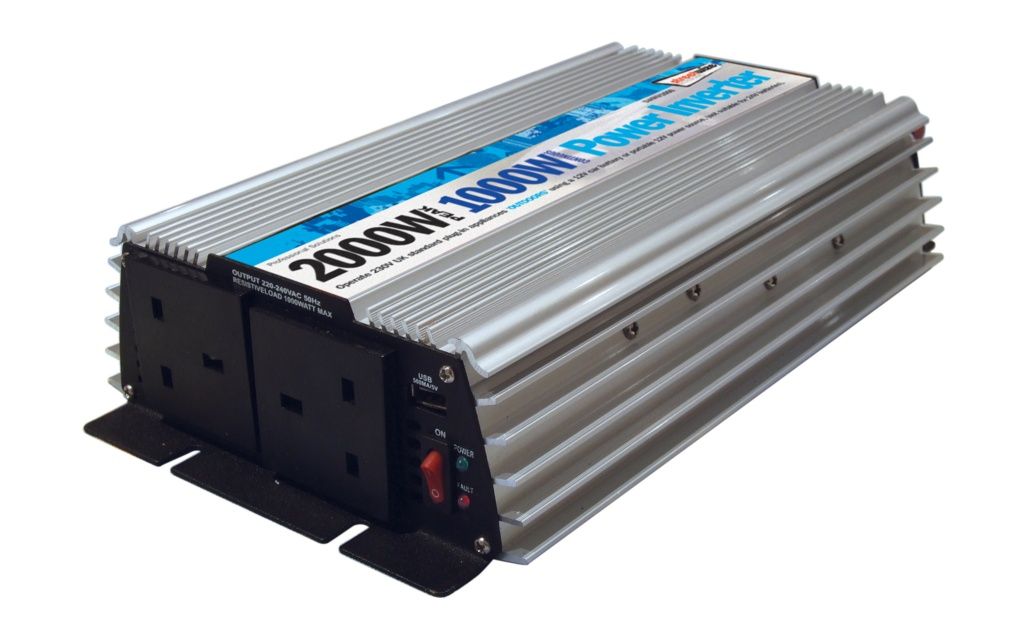 Streetwize 2000W Peak Power/1000watt Continuous Power DC-AC Power Inverter - 1000w
