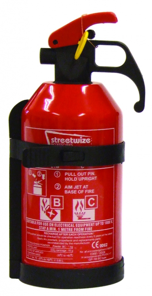 Streetwize BC Fire Extinguisher-No Gauge - 1kg