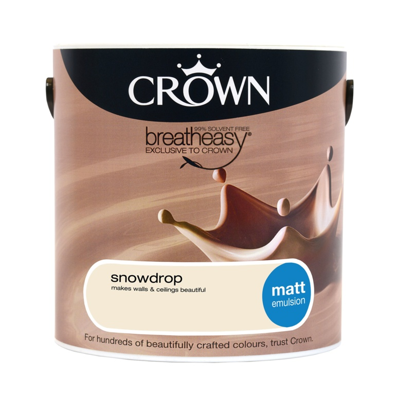 Crown Matt Emulsion 2.5L - Snowdrop