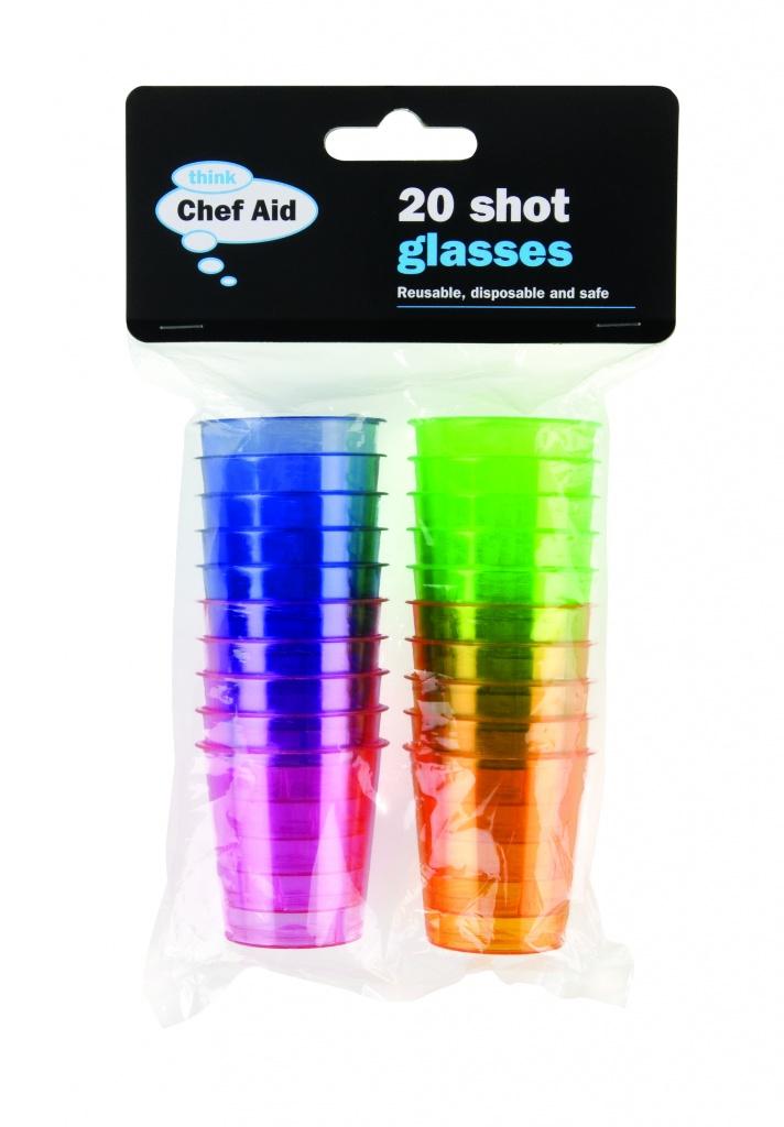 Chef Aid Shot Glasses - 20 Pack