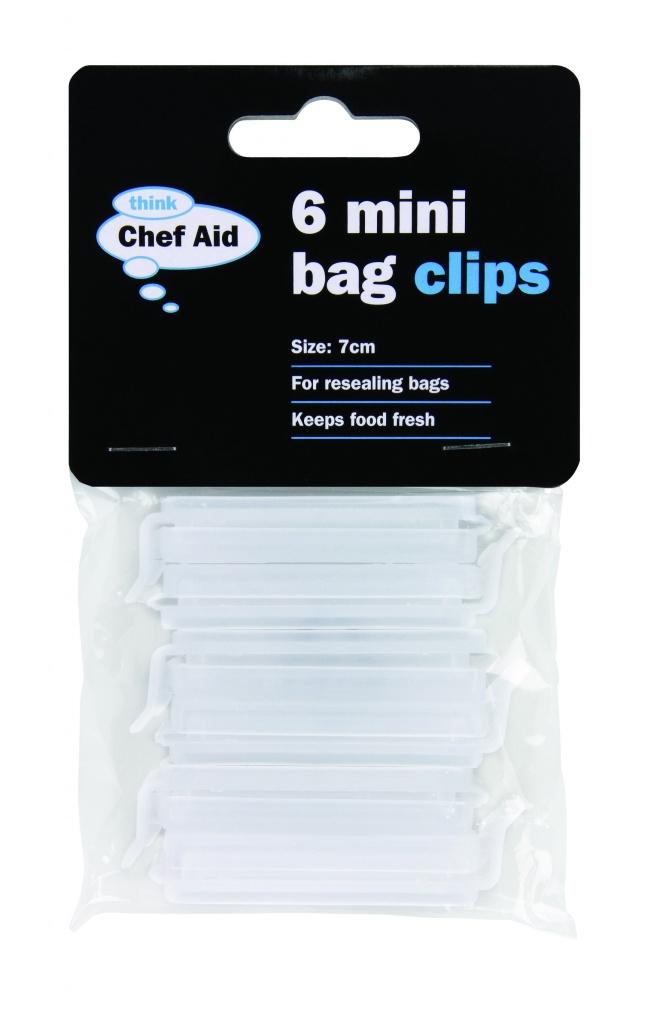 Chef Aid Mini Bag Clips - 7cm 6 Pack