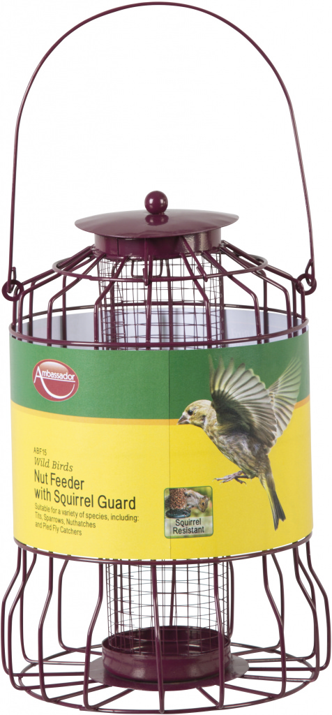 Ambassador Wild Birds Nut Feeder - With Squirrel Guard