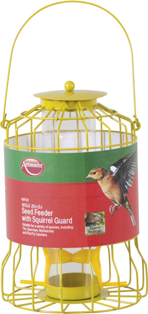 Ambassador Wild Birds Seed Feeder - With Squirrel Guard