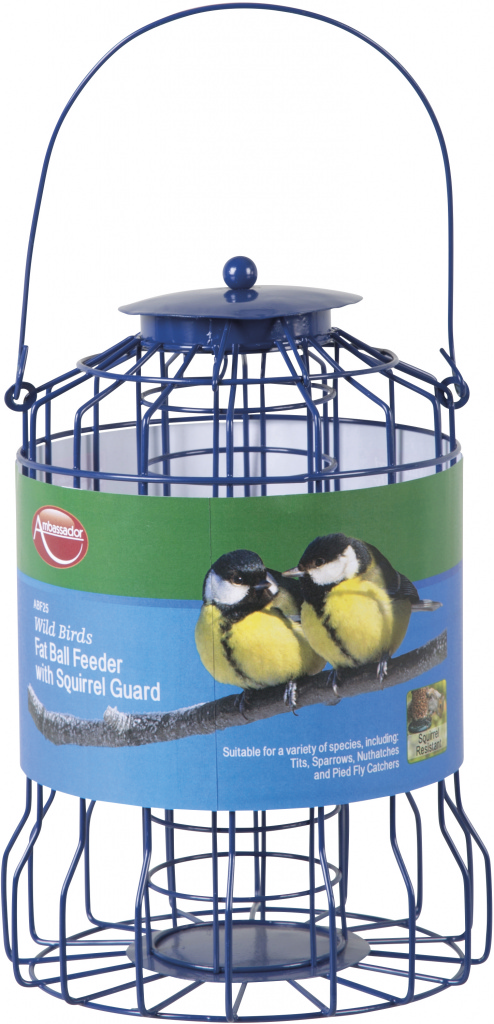 Ambassador Wild Birds Fat Ball Feeder - With Squirrel Guard