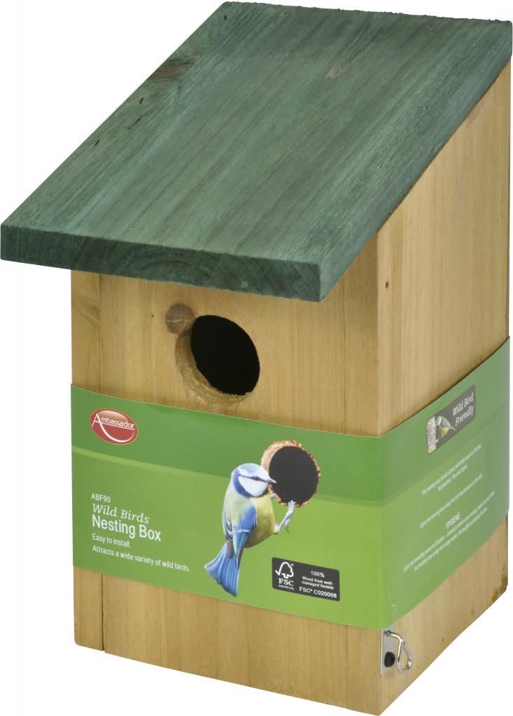 Ambassador Small Birds Nesting Box - Wooden