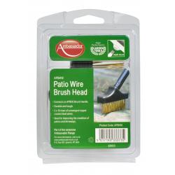 Ambassador Patio Wire Brush Head