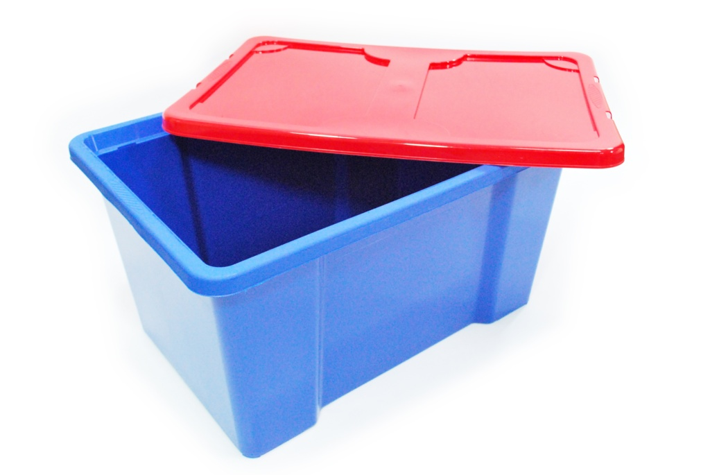 TML Dark Blue Box & Red Lid - 50L