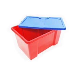 TML Red Box With Dark Blue Lid