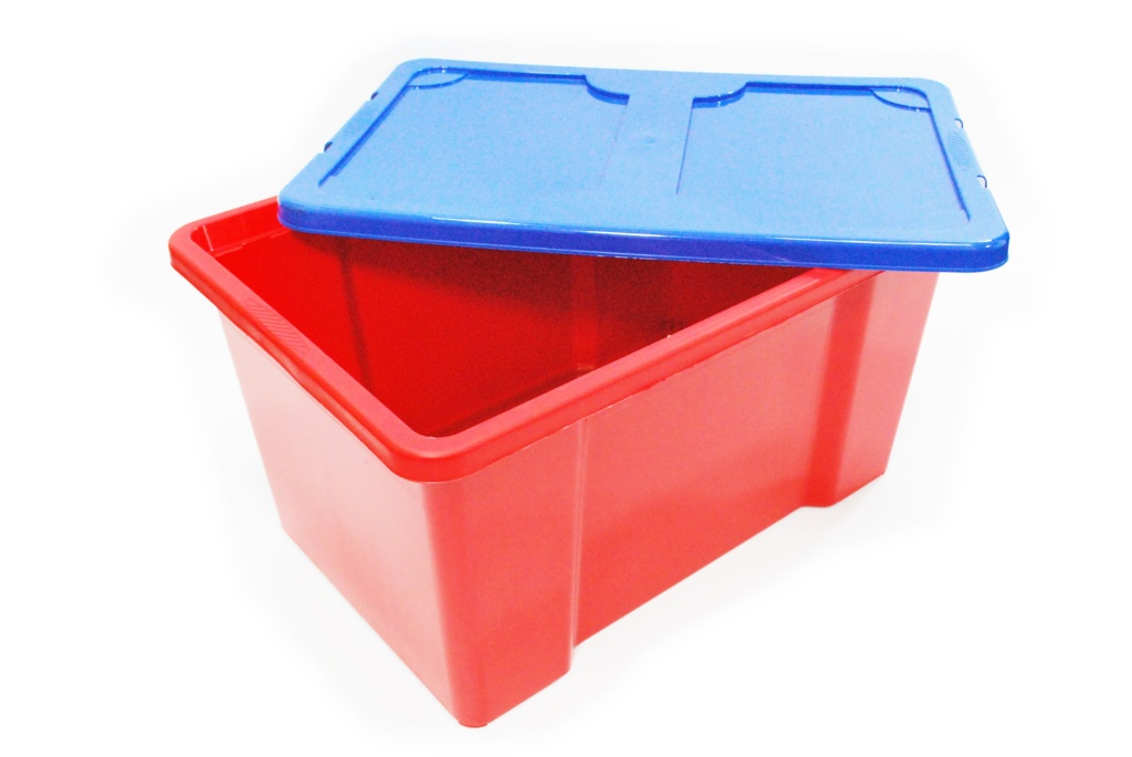 TML Red Box With Dark Blue Lid - 50L