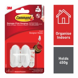 Command Small Oval Designer Hooks 17082