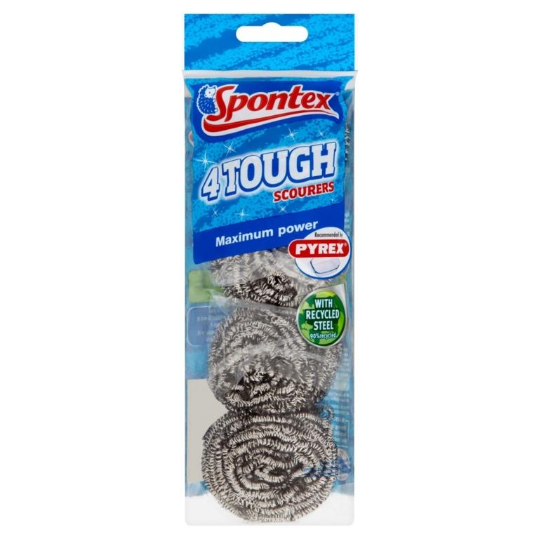 Spontex Tough Scourer - Pack 4