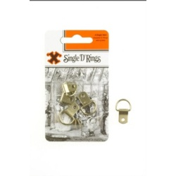 "Challenge ""X"" Brand Single D Rings Brass - Pack 4"