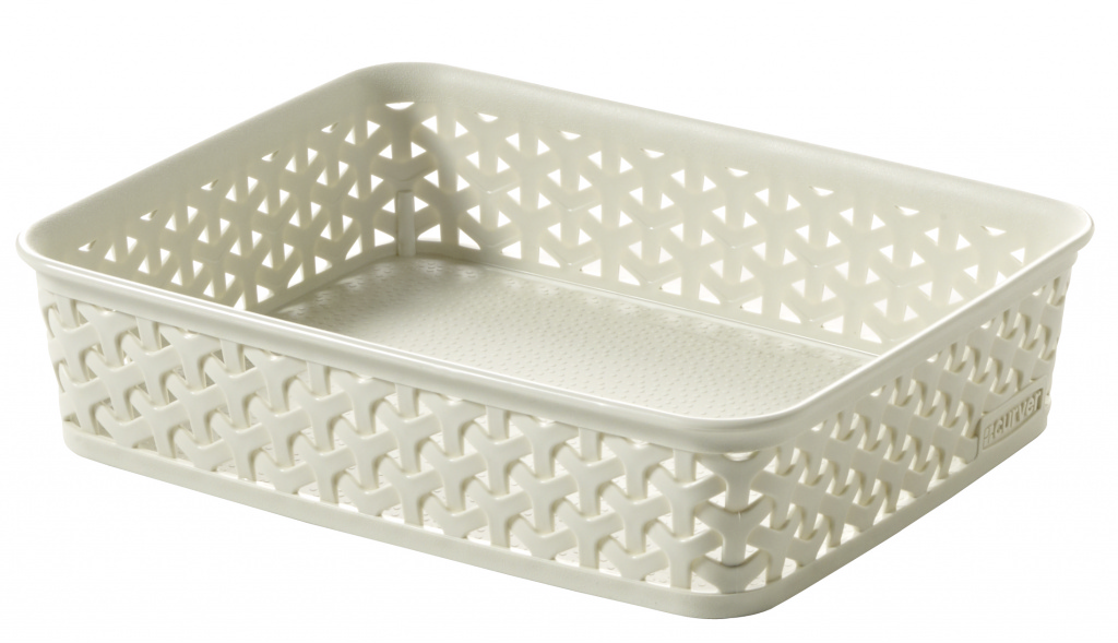 Curver My Style Rattan Tray - Vintage White A5