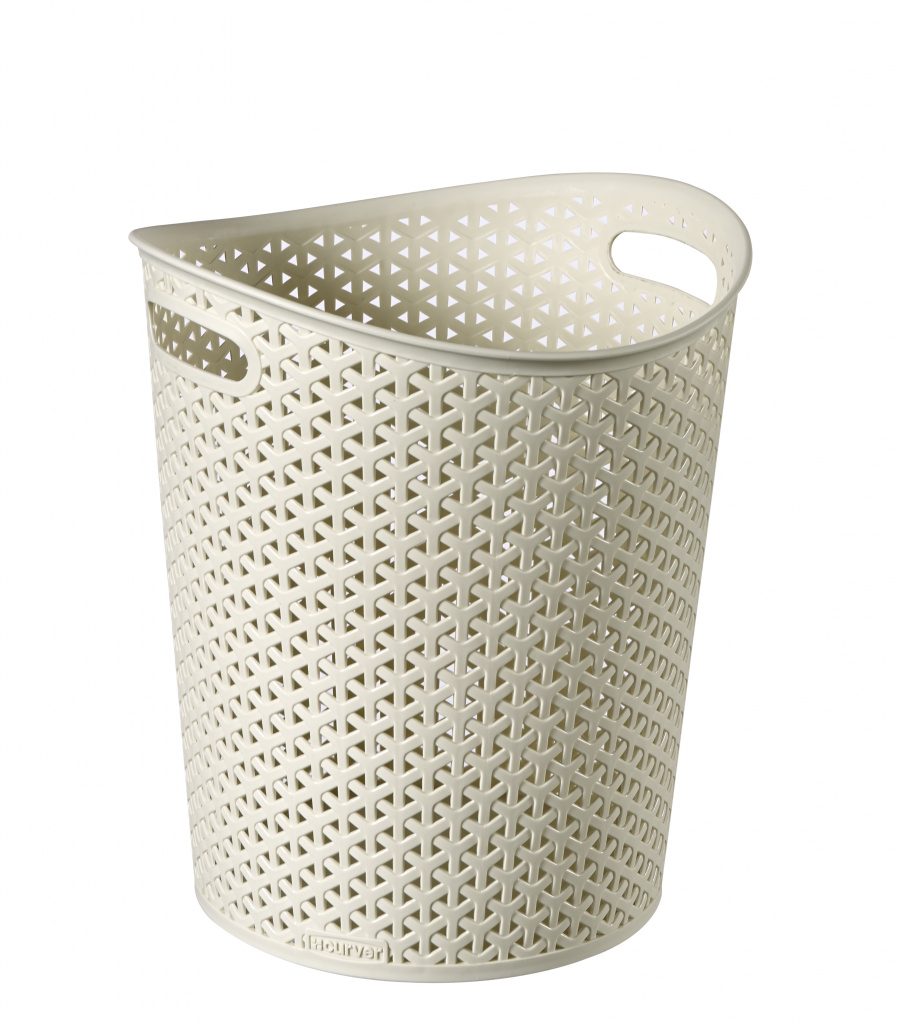 Curver My Style Paper Bin Vintage White - 13L
