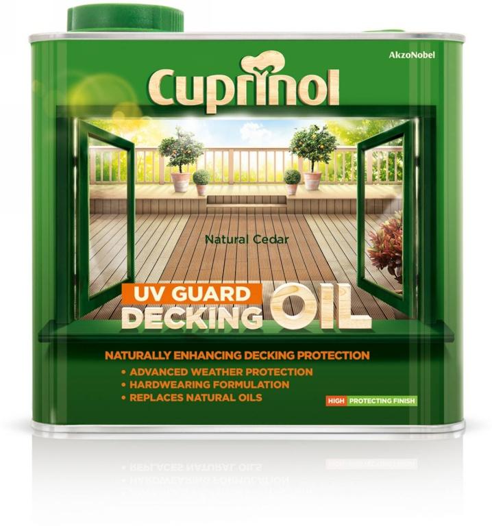 Cuprinol UV Guard Decking Oil 2.5L - Natural Cedar