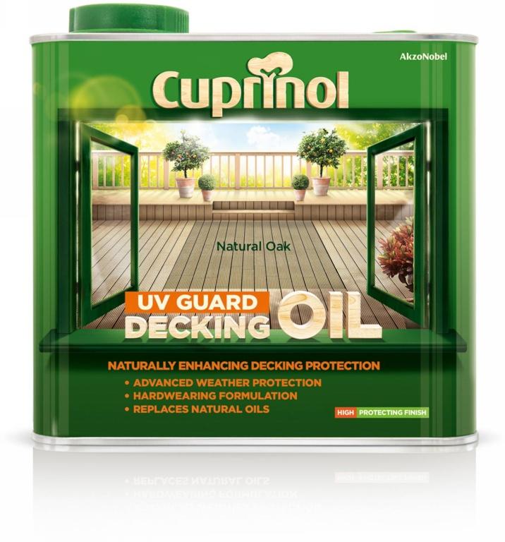 Cuprinol UV Guard Decking Oil 2.5L - Natural Oak