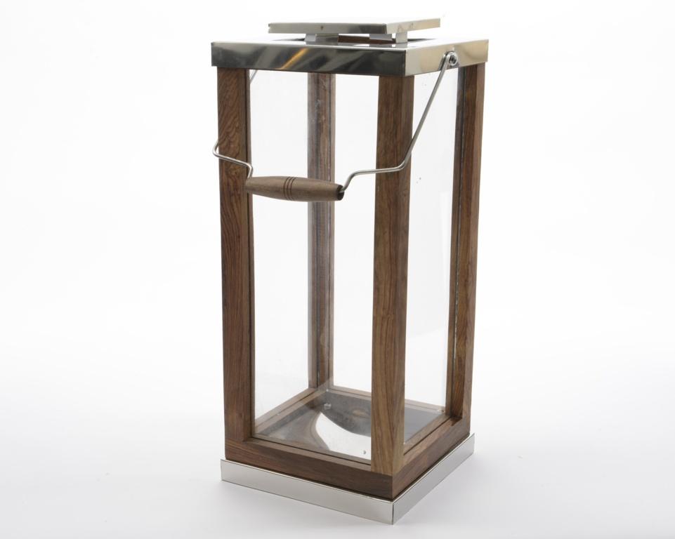 Kaemingk Shesham Wood Lantern† - 51cm