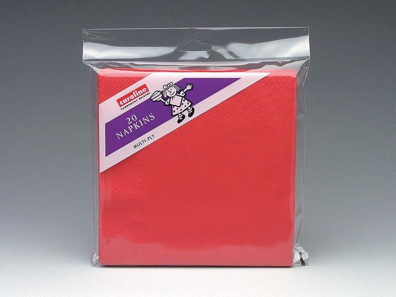 Caroline 2 Ply Napkins - Red Pack 20