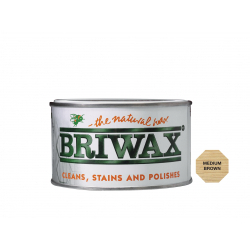 Briwax Natural Wax 400g Medium Brown