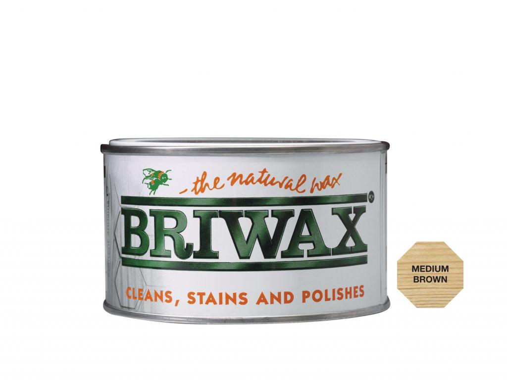 Briwax Natural Wax - 400g Medium Brown