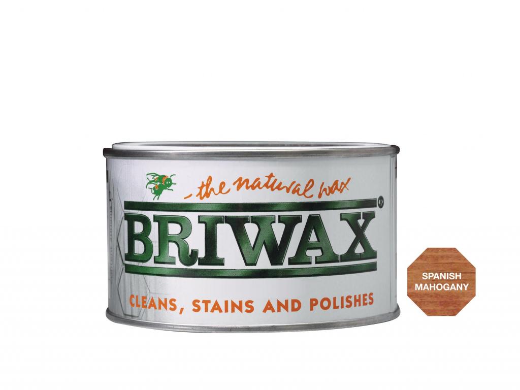 Briwax Natural Wax - 400g Spanish Mahogany