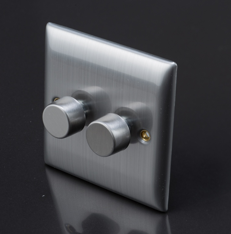 Dencon Dimmer Switch 2g - Stainless Steel