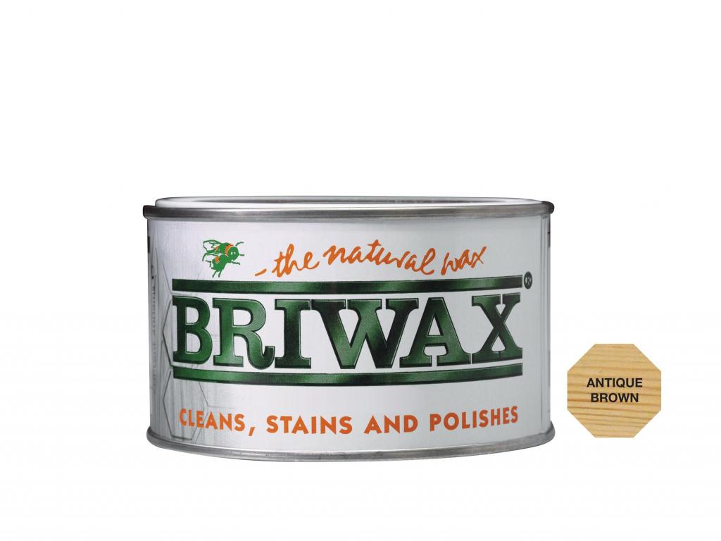 Briwax Natural Wax - 400g Antique Brown