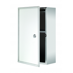 Croydex Trent Stainless Steel Medicine Cabinet Lockable